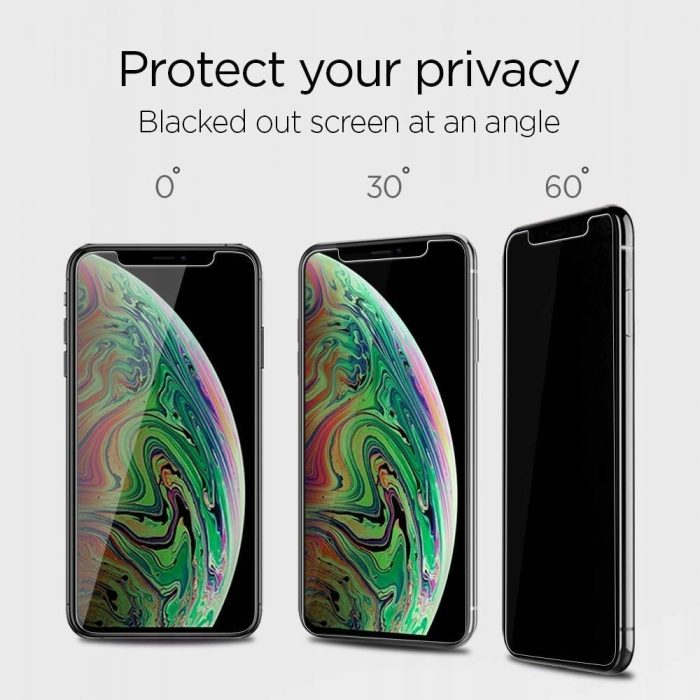 spigen glas.tr alignmaster apple iphone 11 pro max privacy - spigen 8809671018282 2