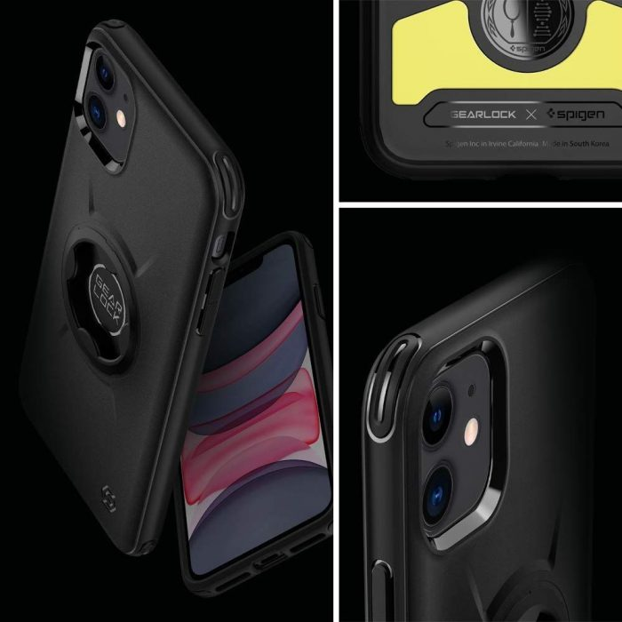 Spigen Gearlock GCF112 Bike Mount Case Apple iPhone 11 Black - SPIGEN 8809685620938 5
