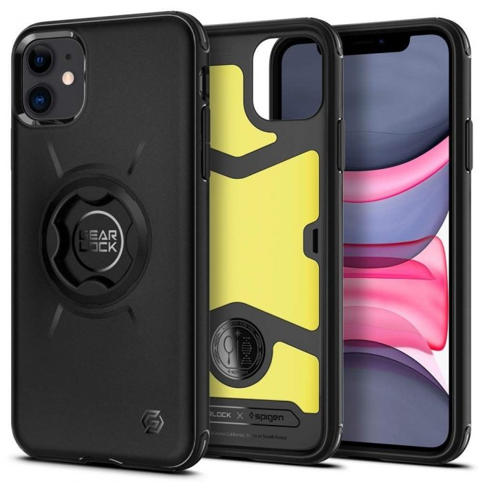 Spigen Gearlock GCF112 Bike Mount Case Apple iPhone 11 Black - SPIGEN 8809685620938