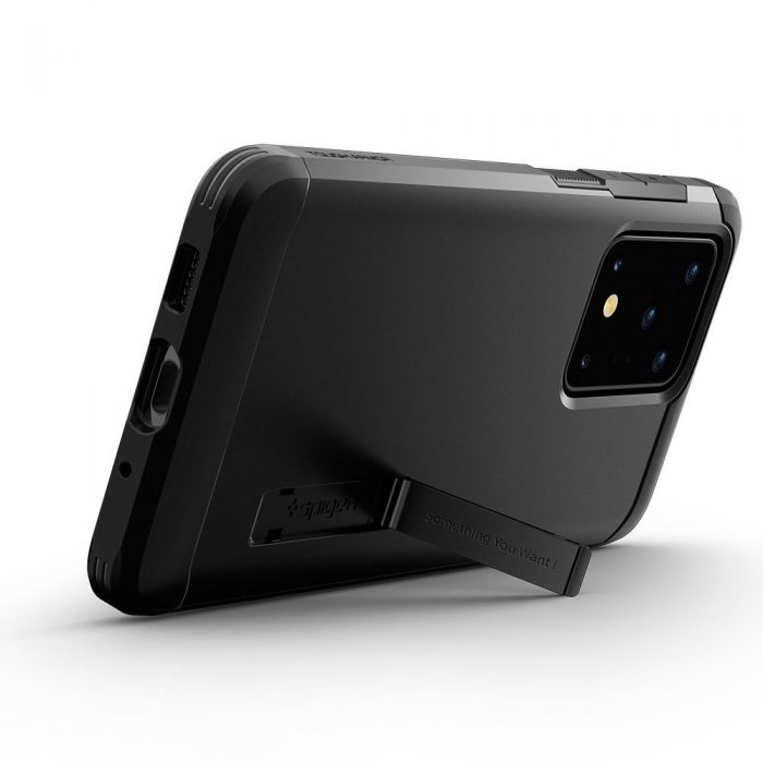 spigen tough armor galaxy s20 ultra black - spigen 8809685625797 5