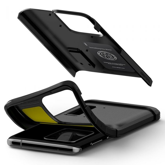 spigen tough armor galaxy s20 ultra black - spigen 8809685625797 6