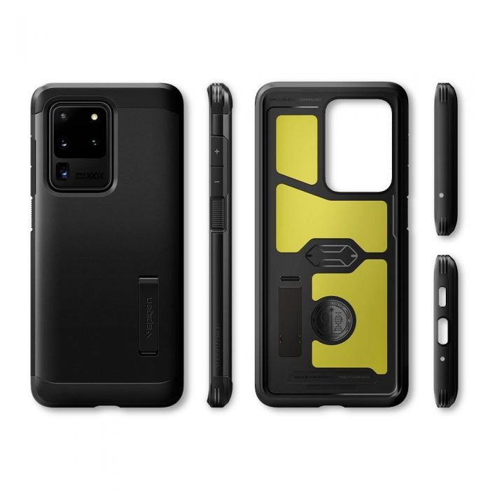 spigen tough armor galaxy s20 ultra black - spigen 8809685625797 7
