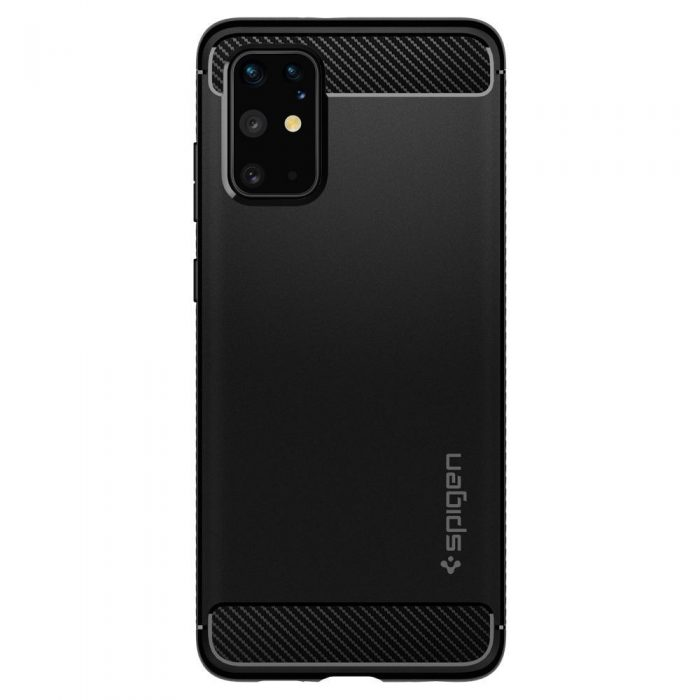 spigen rugged armor galaxy s20+ plus matte black - spigen 8809685626169 1