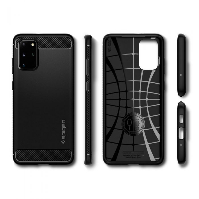 spigen rugged armor galaxy s20+ plus matte black - spigen 8809685626169 8