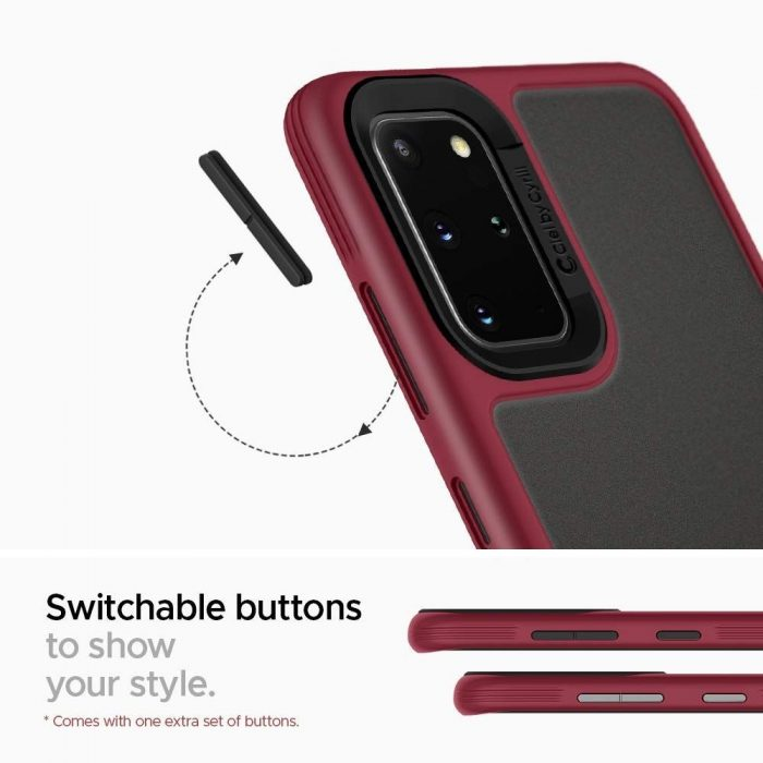spigen ciel color brick samsung galaxy s20+ plus burgundy - spigen 8809685626329 3