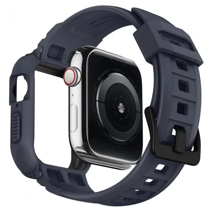 spigen rugged armor pro apple watch 4/5 (44mm) charcoal grey - spigen 8809685626824 4