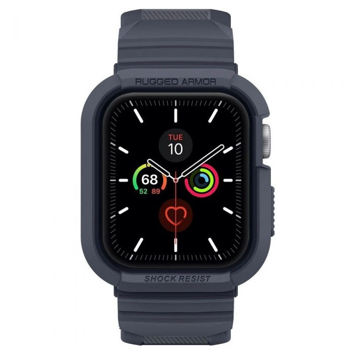 spigen rugged armor pro apple watch 4/5 (44mm) charcoal grey - spigen 8809685626824 5