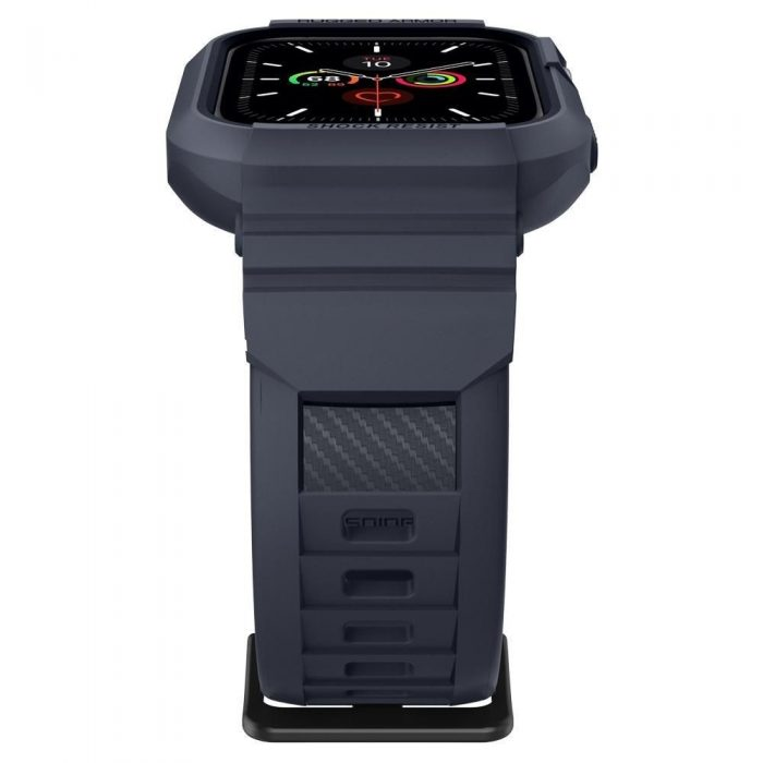spigen rugged armor pro apple watch 4/5 (44mm) charcoal grey - spigen 8809685626824 6