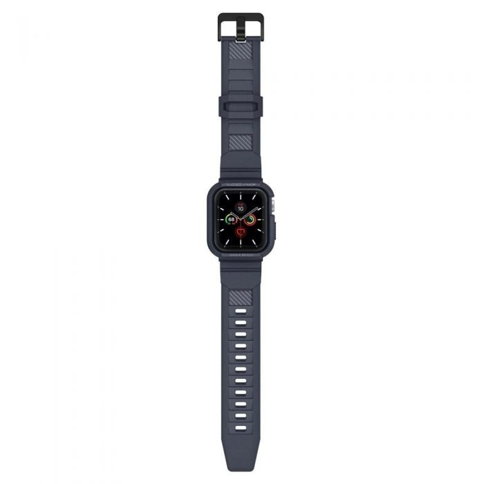 spigen rugged armor pro apple watch 4/5 (44mm) charcoal grey - spigen 8809685626824 7