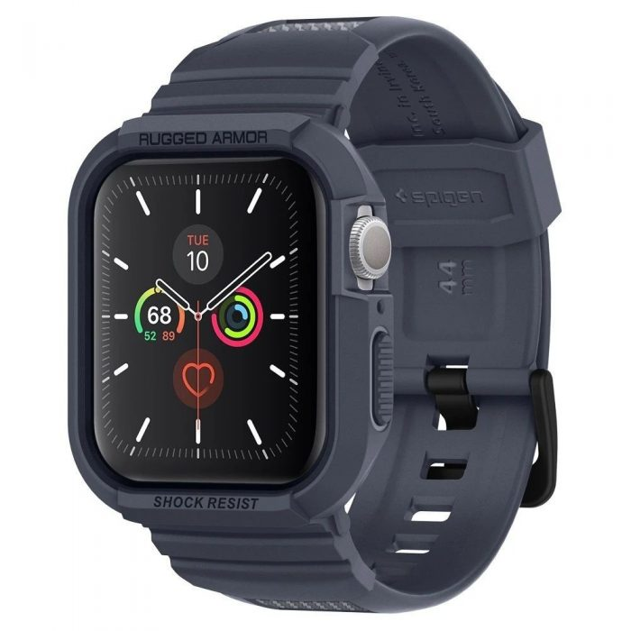 spigen rugged armor pro apple watch 4/5 (44mm) charcoal grey - spigen 8809685626824