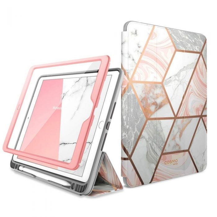 kryt supcase cosmo pencil apple ipad 10.2 2019 marble - supcase 843439127098