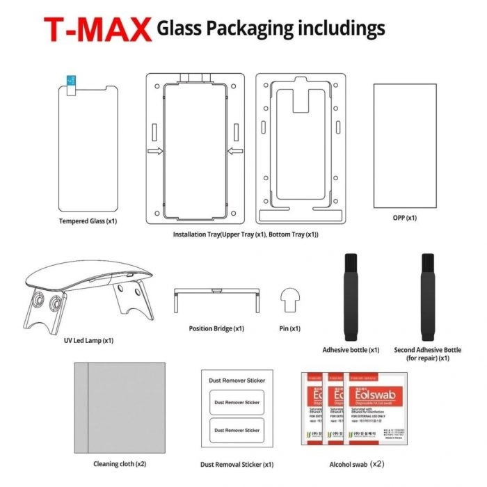 t-max uv glass samsung galaxy s8 plus - t max 5903068633034 5 1