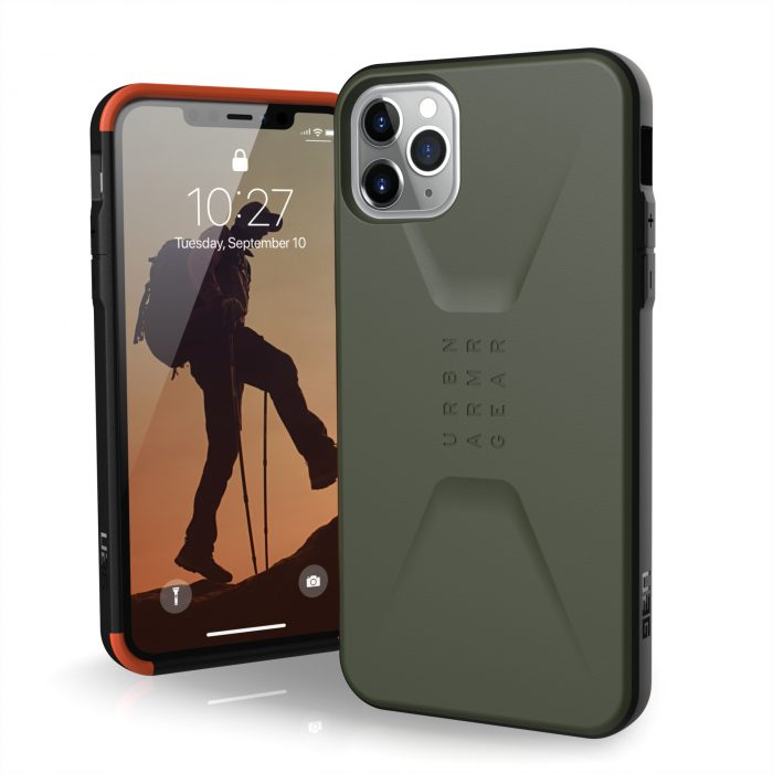 kryt uag urban armor gear civilian apple iphone 11 pro max (olive drab) - urban armor gear 812451032994 1