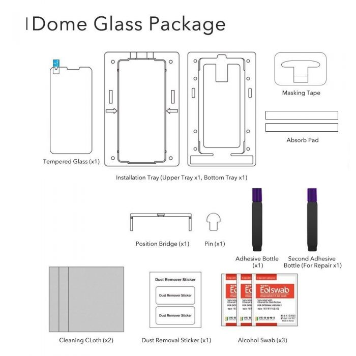 whitestone dome glass replacement samsung galaxy s9 plus - whitestone dome 8809365402502 5 1