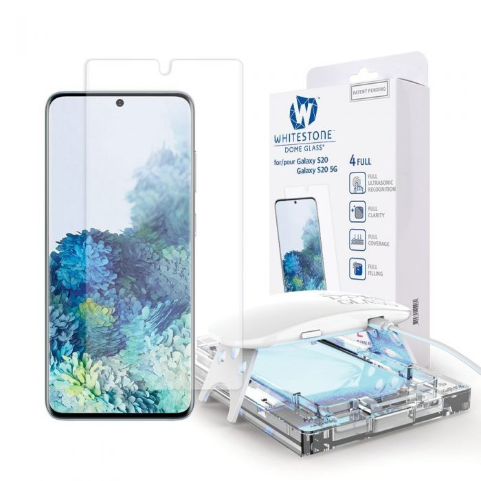 whitestone dome glass samsung galaxy s20 clear - whitestone dome 8809365403936