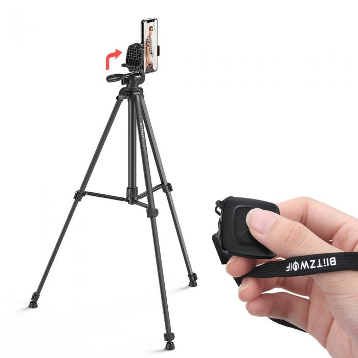 blitzwolf bw-bs0 pro tripod for cameras and smartphones (black) - export 1228