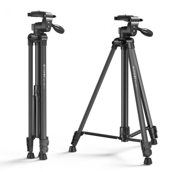 blitzwolf bw-bs0 pro tripod for cameras and smartphones (black) - export 1229