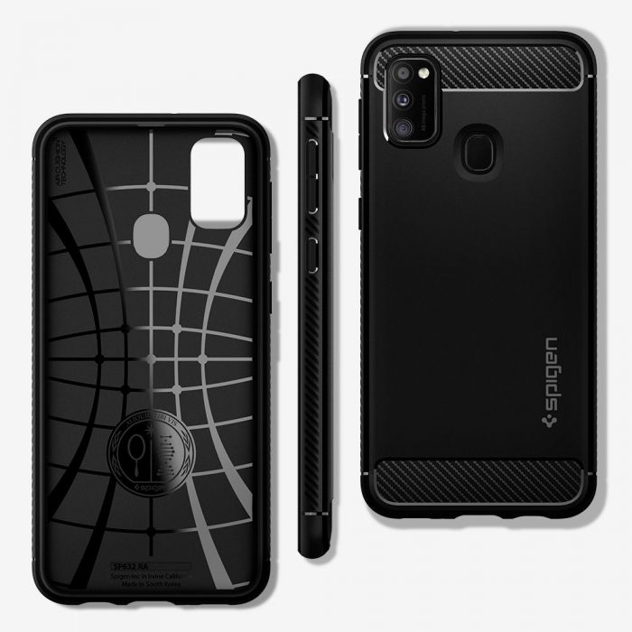 Spigen Rugged Armor Samsung Galaxy M21 Matte Black - export 537
