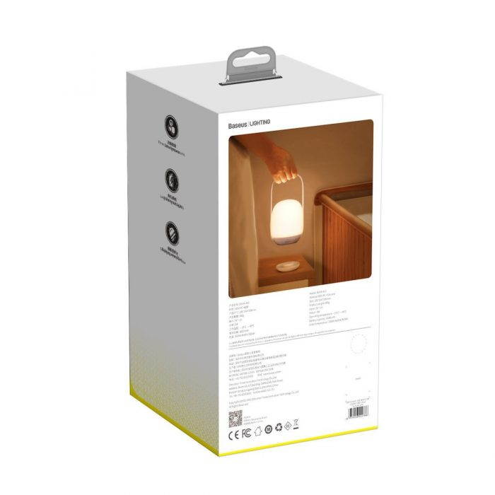baseus moon-white dimming portable lamp (plus) white - export 285