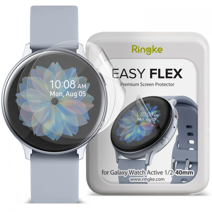Ringke Easy Flex Antibacterial Screen Protector Samsung Galaxy Watch Active 1/2 (40mm) [3 PACK] - export 809
