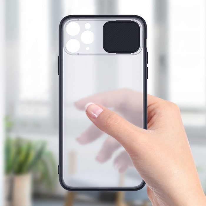 blitzwolf bw-ay2 protective case with slide lens cover for iphone 11 pro max black - export 923