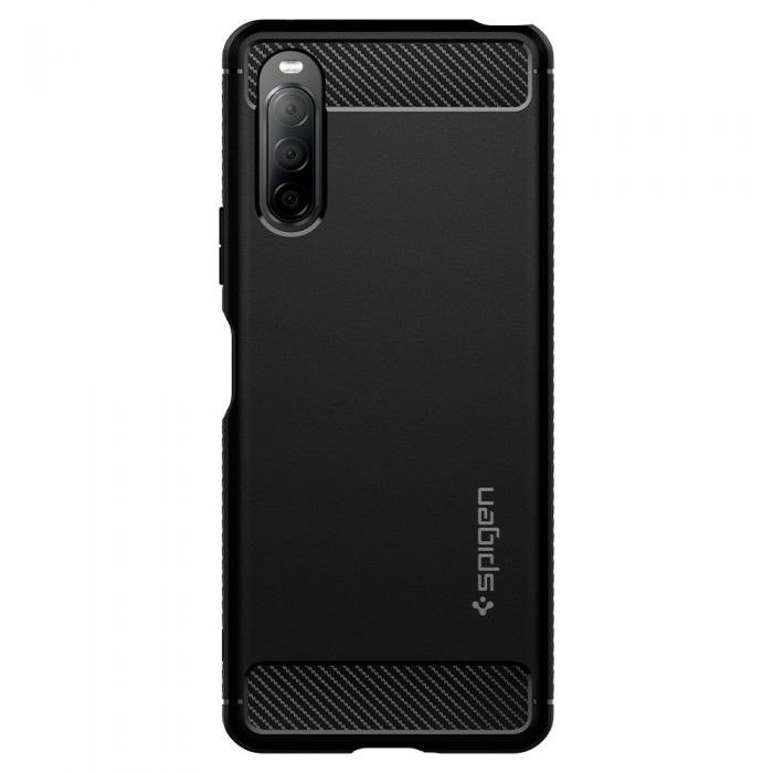 spigen rugged armor sony xperia 10 ii matte black - export 1148