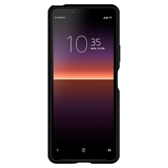 spigen rugged armor sony xperia 10 ii matte black - export 1152