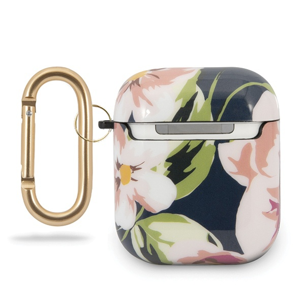 guess guaca2tpubkfl03 apple airpods cover blue n.3 flower collection - export 1638