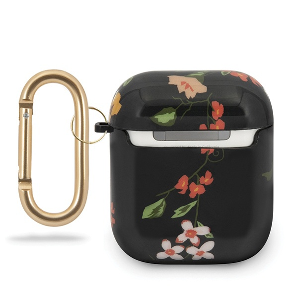 guess guaca2tpubkfl04 apple airpods cover black n.4 flower collection - export 1640
