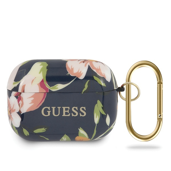 guess guacaptpubkfl03 apple airpods pro cover blue n.3 flower collection - export 1642