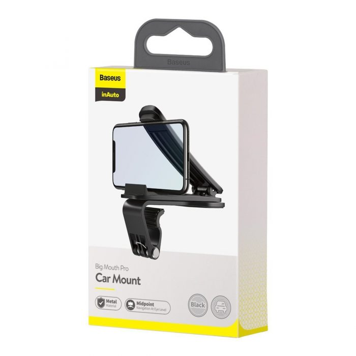 baseus big mouth pro car mount holder (black) - export 2003