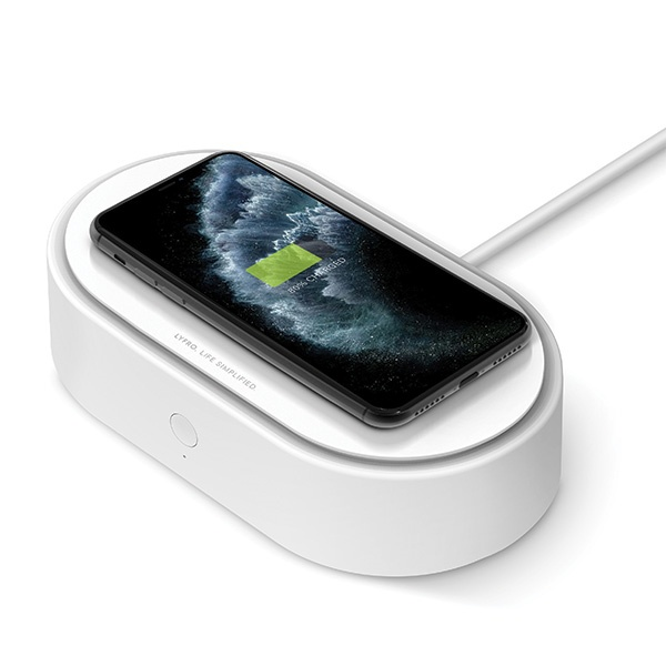 uniq lyfro all-in-one uvc sanitizer with fast wireless charging 10w white - export 2086