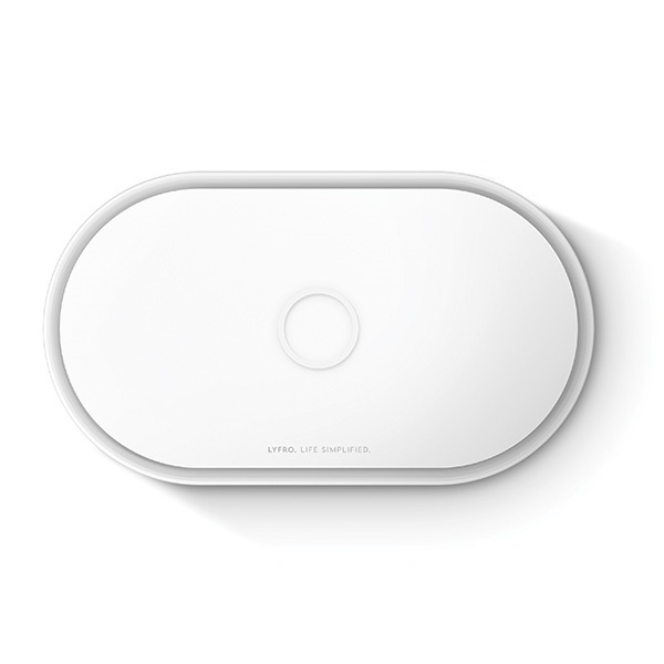 uniq lyfro all-in-one uvc sanitizer with fast wireless charging 10w white - export 2088