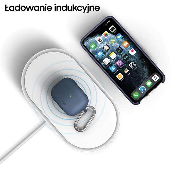 uniq lyfro all-in-one uvc sanitizer with fast wireless charging 10w white - export 2090