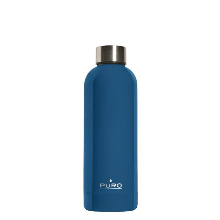 puro hot&cold thermal stainless steel water bottle 500ml (dark blue) - export 2135