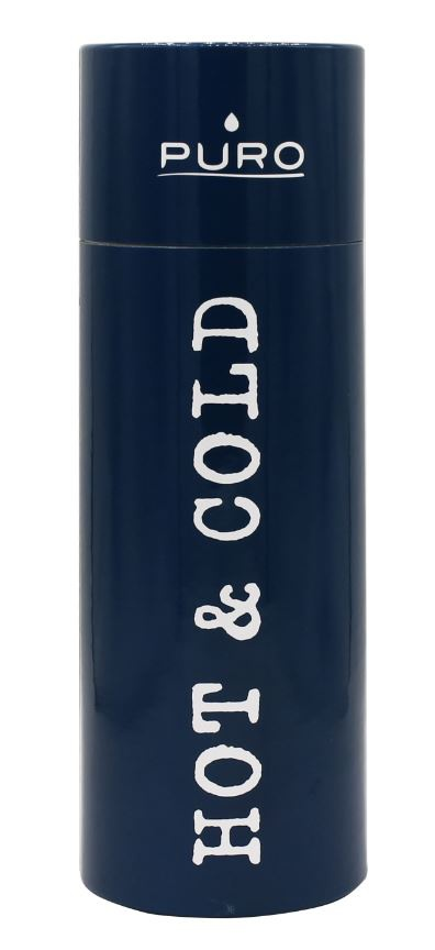 puro hot&cold thermal stainless steel water bottle 500ml (dark blue) - export 2137