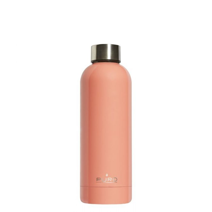 puro hot&cold thermal stainless steel water bottle 500ml (light orange) - export 2139