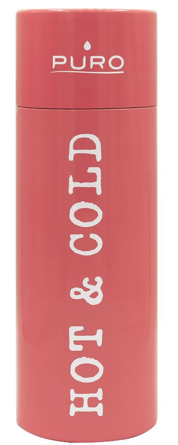 puro hot&cold thermal stainless steel water bottle 500ml (light orange) - export 2140