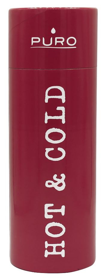 puro hot&cold thermal stainless steel water bottle 500ml (red) - export 2144
