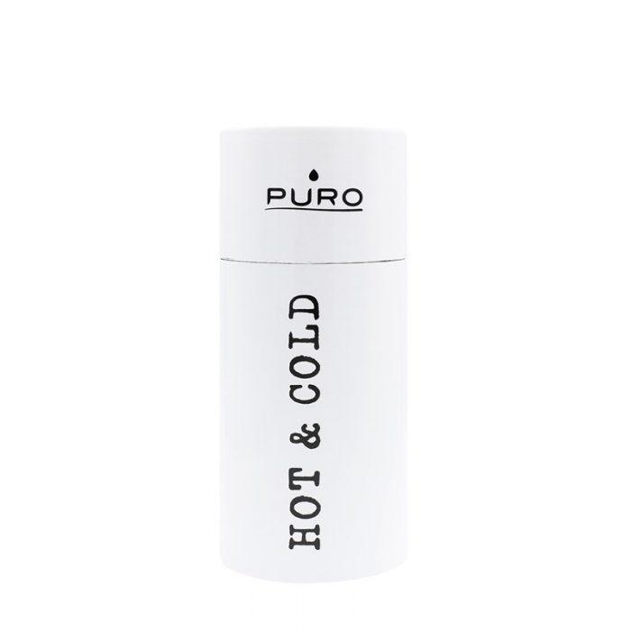 puro hot&cold thermal stainless steel water bottle 350ml (shiny white) - export 2181
