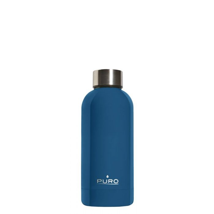 puro hot&cold thermal stainless steel water bottle 350ml (dark blue) - export 2184