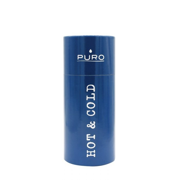 puro hot&cold thermal stainless steel water bottle 350ml (dark blue) - export 2185