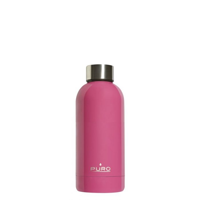 puro hot&cold thermal stainless steel water bottle 350ml (fucsia) - export 2187