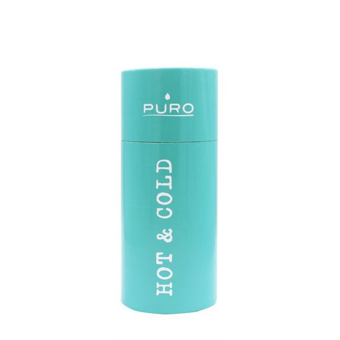 puro hot&cold thermal stainless steel water bottle 350ml (light blue) - export 2189