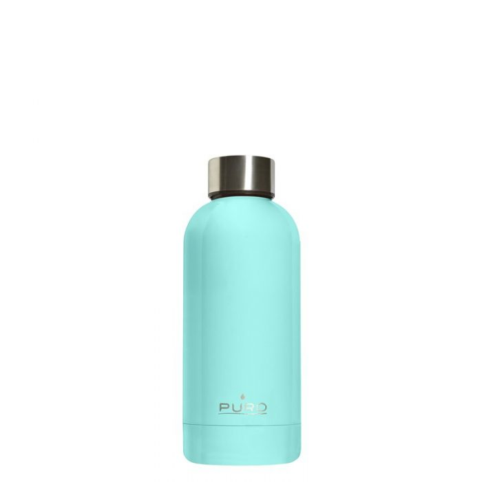 puro hot&cold thermal stainless steel water bottle 350ml (light blue) - export 2190