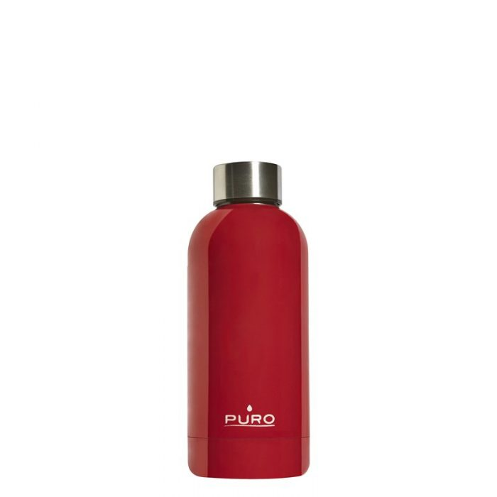 puro hot&cold thermal stainless steel water bottle 350ml (red) - export 2195