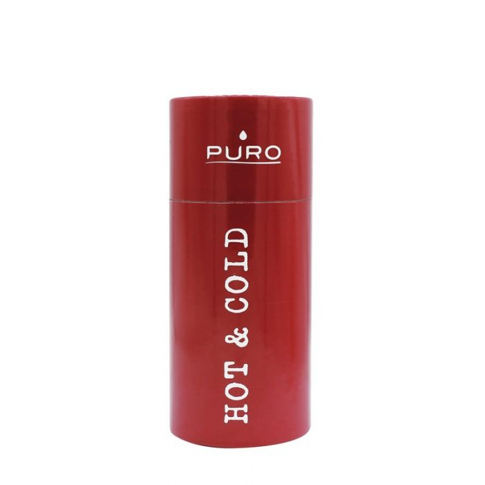puro hot&cold thermal stainless steel water bottle 350ml (red) - export 2196