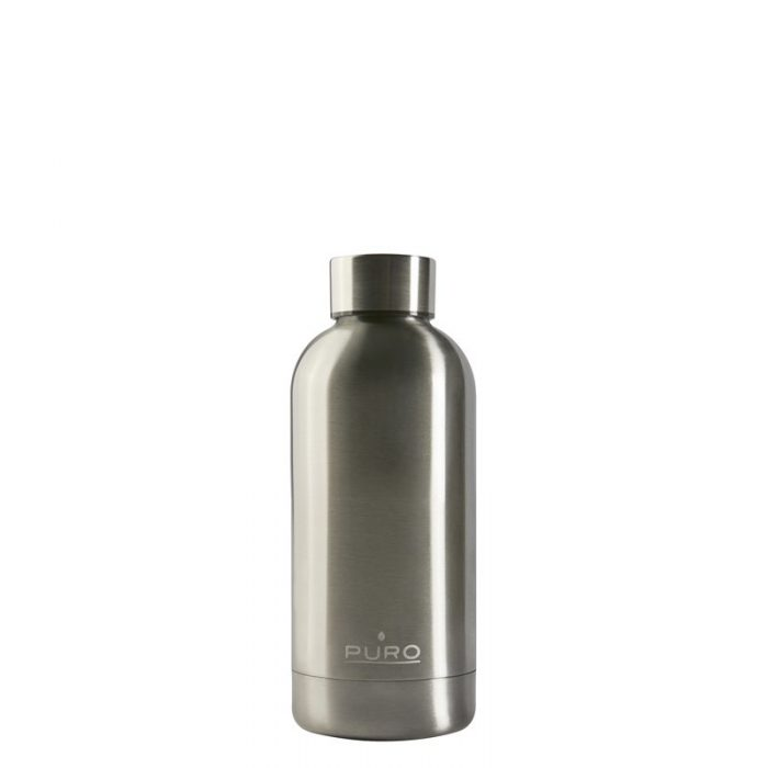 puro hot&cold thermal stainless steel water bottle 350ml (metallic silver) - export 2202