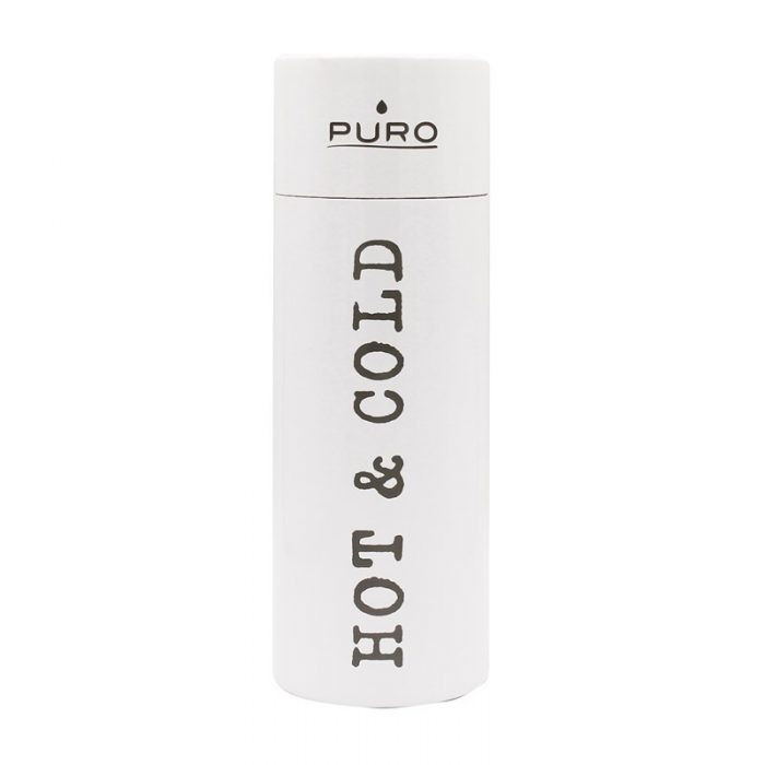 puro hot&cold thermal stainless steel water bottle 500ml (white) - export 2205