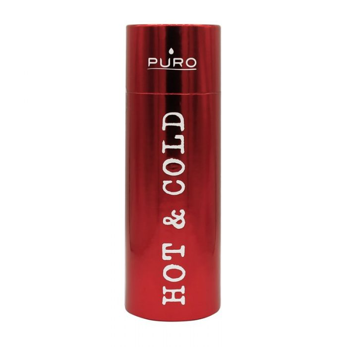 puro hot&cold thermal stainless steel water bottle 500ml (metallic red) - export 2209